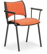 Konferenční čalouněná židle, oranžová Biedrax Z9100O