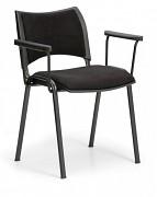 Konferenční čalouněná židle, černá Biedrax Z9100C