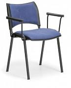 Konferenční čalouněná židle, modrá Biedrax Z9100M