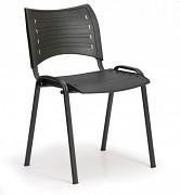 Konferenční plastová židle, černá Biedrax Z9118C, podnož černá
