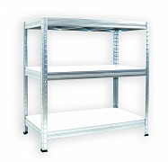 kovový regál Biedrax 50 x 120 x 90 cm - pozinkovaný, bílé police lamino