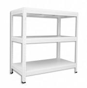 kovový regál Biedrax, bílé police 35 x 120 x 120 cm - bílý, 175 kg na polici