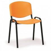 Konferenční plastová židle ISO, oranžová Biedrax Z9517O, podnož černá