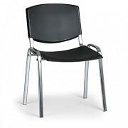 Konferenční plastová židle, černá Biedrax Z8994C, podnož chromovaná