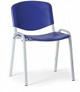 Konferenční plastová židle, modrá Biedrax Z9522M, podnož šedá