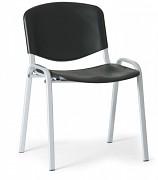 Konferenční plastová židle, černá Biedrax Z9522C, podnož šedá
