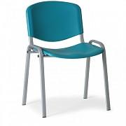 Konferenční plastová židle, zelená Biedrax Z9522Z, podnož šedá