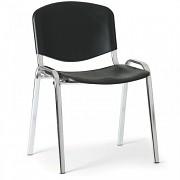 Konferenční plastová židle ISO, černá Biedrax Z9527C, podnož chromovaná