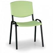 Konferenční plastová židle, zelená Biedrax Z8982Z, podnož černá