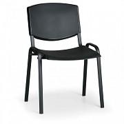 Konferenční plastová židle, černá Biedrax Z8982C, podnož černá