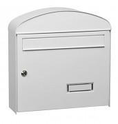 poštovní schránka na dopisy, noviny, lakovaná bílá - Biedrax SD6322B