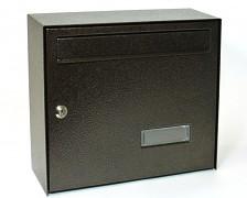 poštovní schránka na dopisy, noviny, lakovaná hnědá - Biedrax SD6309