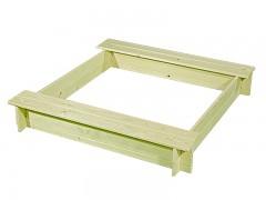 pískoviště dřevěné s lavičkami BIEDRAX 115 x 115 x 20 cm