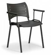Konferenční plastová židle, černá Biedrax Z9123C, podnož černá