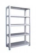 Nerezový regál Biedrax 40 x 96 x 200 cm, 5 polic x 100 kg