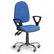 Kancelářská židle Torino Biedrax Z9647M s područkami a chromovaným křížem