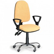 Kancelářská židle Torino Biedrax Z9647ZL s područkami a chromovaným křížem