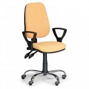 Kancelářská židle Comfort Biedrax Z9672ZL s područkami a chromovaným křížem