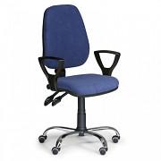 Kancelářská židle Comfort Biedrax Z9672M s područkami a chromovaným křížem