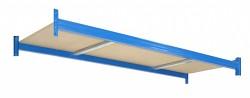 Profesionální Regál BIEDRAX - samostatné patro 100 x 150  cm - nosnost 350 kg, modrá