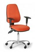 Kancelářská židle Alex Biedrax Z9660O s područkami a chromovaným křížem