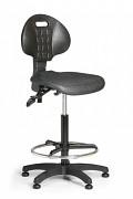 Pracovní židle PUR Biedrax Z9769 - s kluzáky a opěrným kruhem