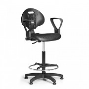 Pracovní židle PUR Biedrax Z9821 - s opěrným kruhem a područkami