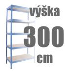 REGÁLY VÝŠKA 300 CM